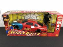 1999 Toy Biz Spiderman Spider Racer Remote Controlled Car - In original box, but spiderman figure is missing from package