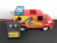 Spiderman Spidey Remote 3 Wired Remote Controlled Van - Works but wire has a little bit of a short in it