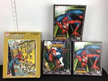 Lot of 4 Spiderman Puzzles - 1980 puzzle is incomplete, other 3 are sealed