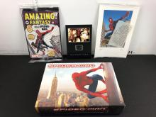2002 Spiderman DVD Collectors Box Set - dvd not included but has Commemorative Film Cel, Amazing Fantasy #15 Reprint. John Romita Sr. & Jr. Picture (Facsimile signatures)