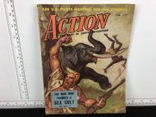 July 1953 Action Magazine - Men's Magazine
