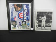 Collage of Nomar Garciaparra in Frame and Roger Maris Picture w/ Questionable Signature