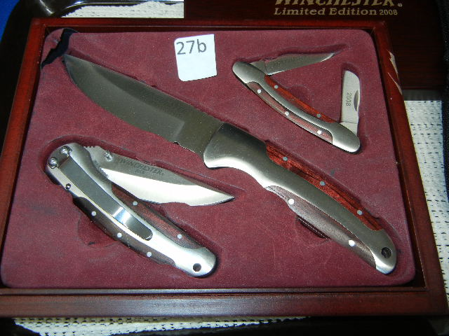 Set Of Three Winchester 2008 Limited Edition Knife Set