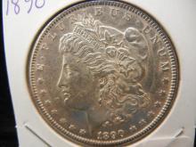 1890 Morgan Dollar.  Almost Uncirculated.