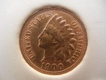 1900 Indian Head Cent 4 Diamonds
