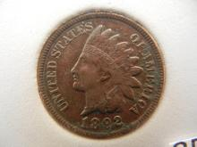 1892 Indian Head Cent 4 Diamonds
