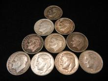 10 Silver Roosevelt Dimes