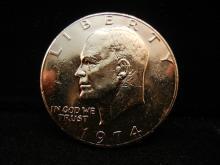 1974 Gold Plated Eisenhower Dollar