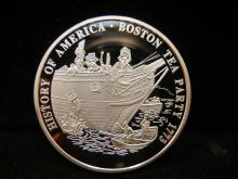 History of America Boston Tea Party 1773 Comm. Coin