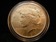 1924 Peace Dollar AU/BU –Details!