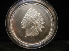 Liberty Indian 1 ounce Silver –Nice!