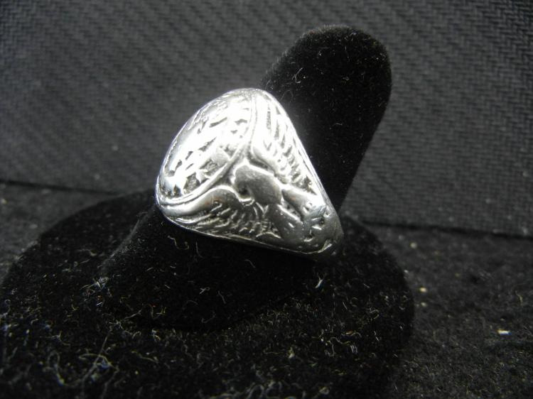 Sterling Silver World War 2 Army Ring