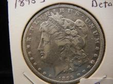 1895-O Morgan Dollar. Very Fine detail.  RARE.