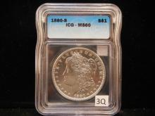 1880-S Morgan Dollar ICG - MS 60