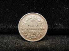 1920 Canadian 5 Cents