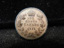1936 Canadian 10 Cents