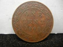 1908 Canadian Large Cent