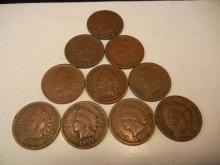 1900, 1902, 1903, 1903, 1893, 1901, 1905, 1906, 1907 & 1893 Indian Head Pennies