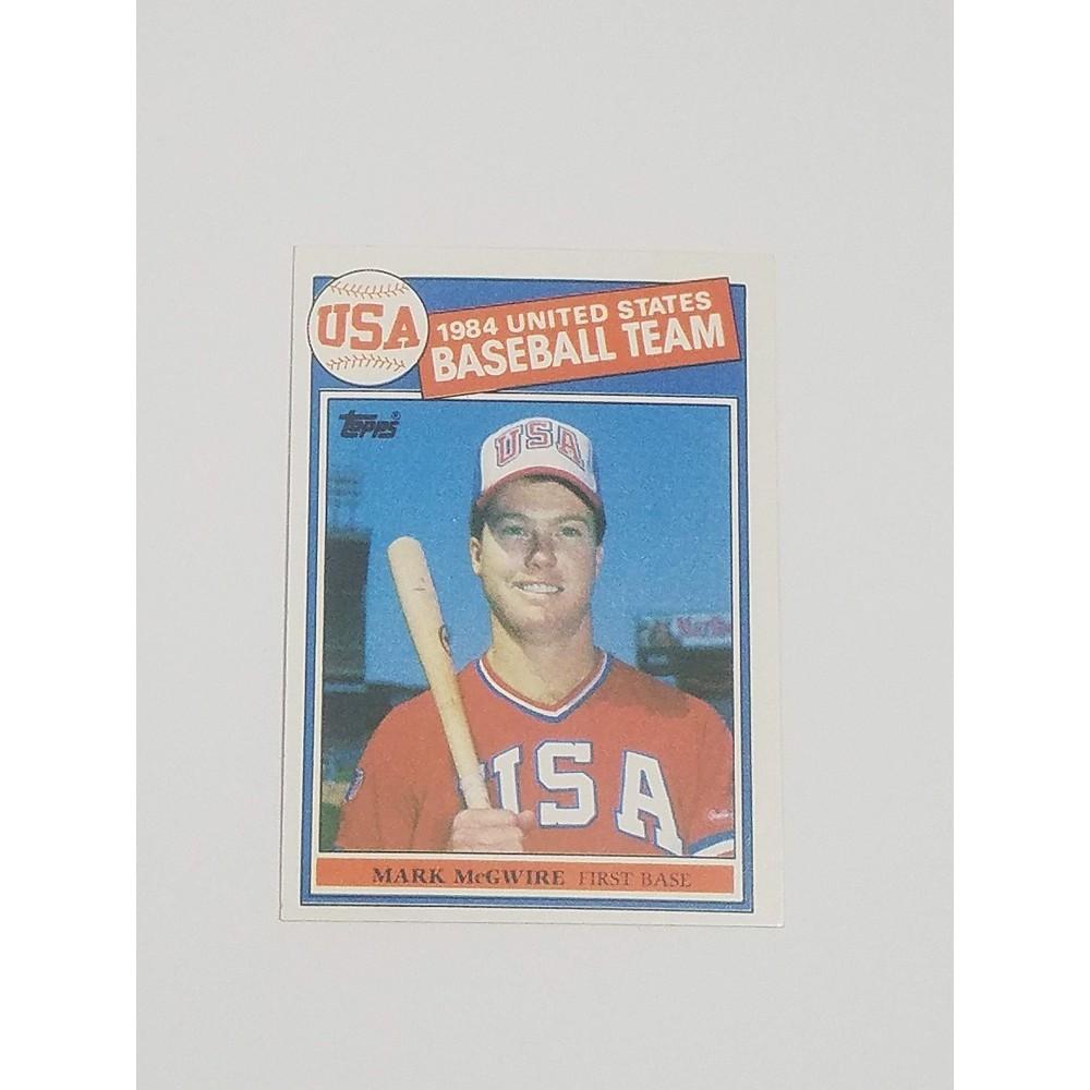 1985 Topps Baseball 401 Mark Mcgwire Rookie Card