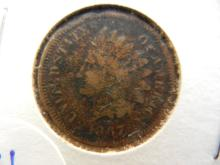 1867 key date indian head penny. Book value $50