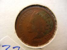 1869 indian head penny. This is a better date. Book value $85 in good condition