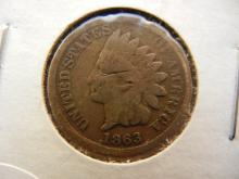 1863 indian head penny Copper nickel