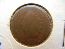 133. 1867 Indian Head Penny key date coin. Book value $50 in good condition