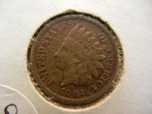 158. 1862 Early Date Indian Head Penny