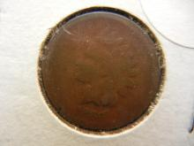 185. 1866 Key date Indian Head Penny. Valued at $50 in good condition.