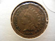 210. 1863 Indian Head Penny Full Liberty