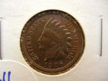 211. High grade 1906 toned indian Head Penny