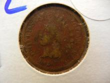 232. 1864 L Indian Head Penny. The 1864 L is a rarer variety of the 1864 ihp. Book value $50 in good