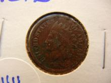 244. 1876 Indian Head Penny full liberty. Key date. Book value $75 in fine. $125 in very fine