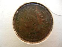 279. 1874 Indian Head Penny with Full liberty. Book value $65
