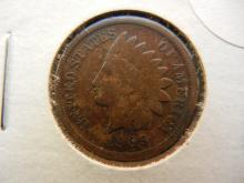 280. 1909 Indian Head Cent  -  NOT Barber dime semi key date. $45 book value