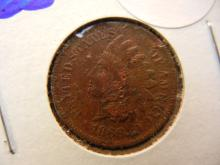 292. 1866 Better date indian head penny. Book vaue $50 in good condition