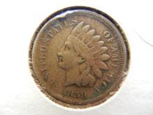 296. 1859 Indian Head Penny full liberty