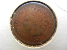 336. 1867 Key date Indian Head Penny. Book value $50 in good condition