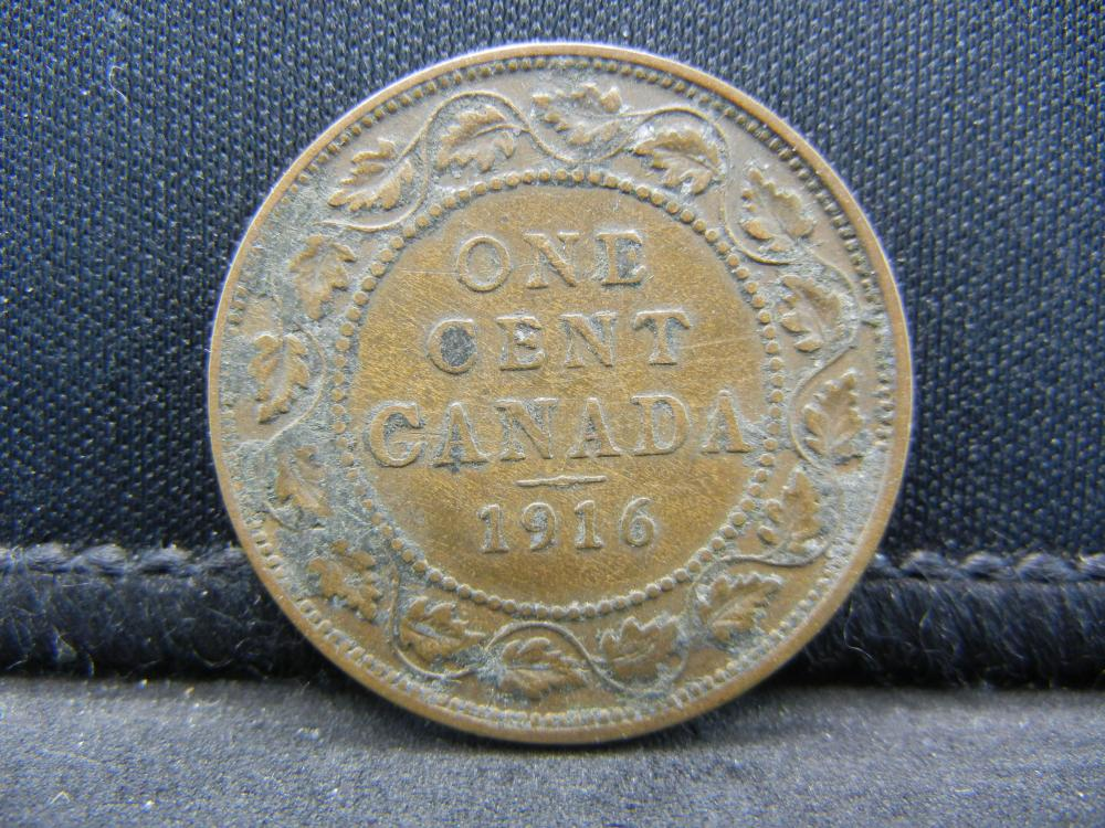 1916 Canadian George V Large Cent.