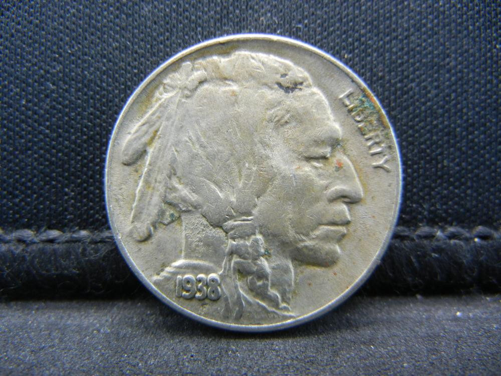 1938-D Buffalo Nickel, Full Horn.