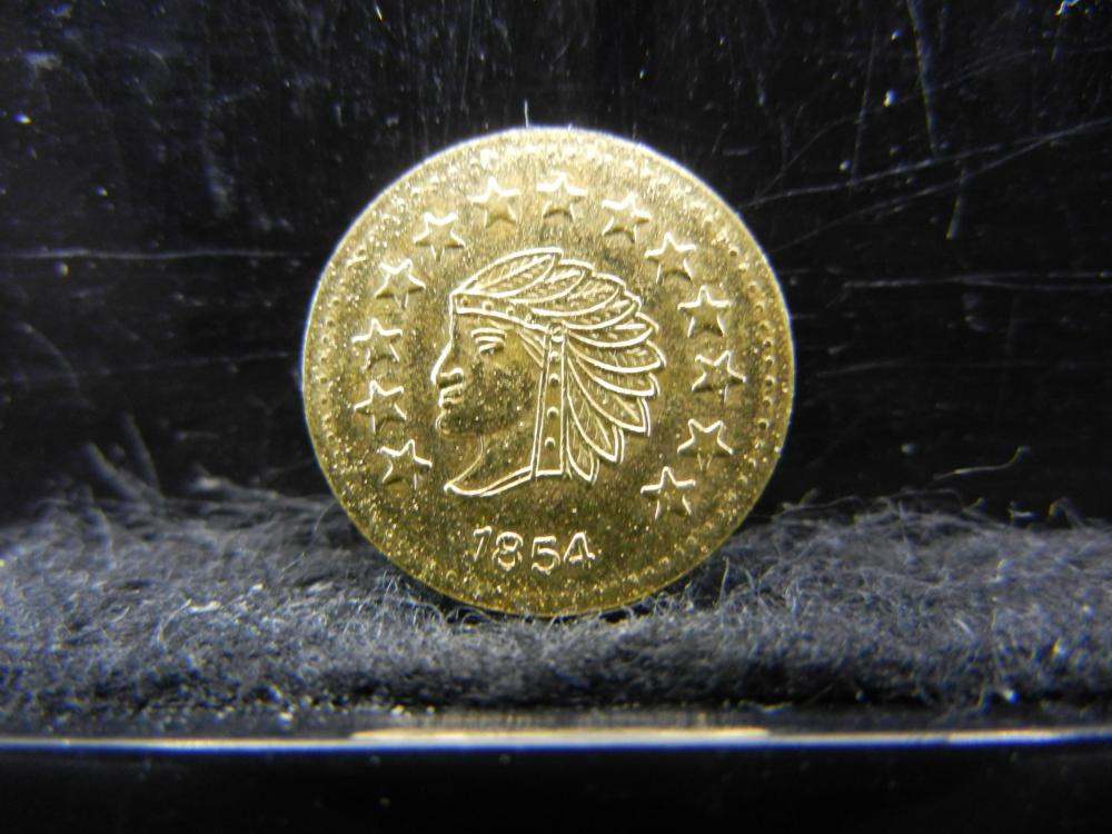 1854 California Token.