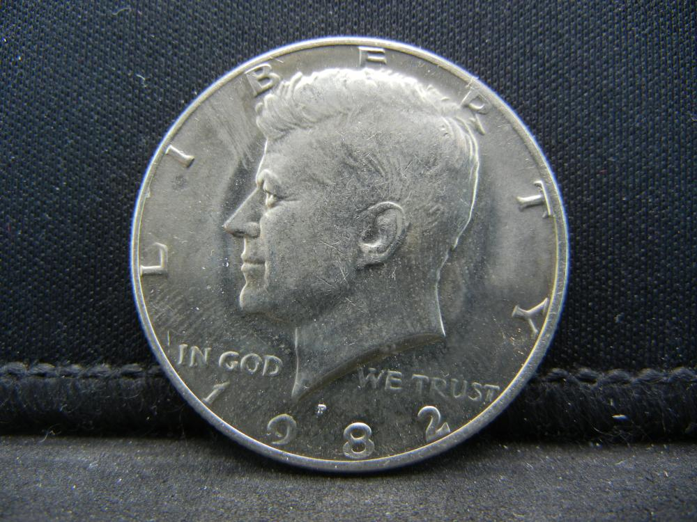 1982 Uncirculated Kennedy Half Dollar, Key Date.
