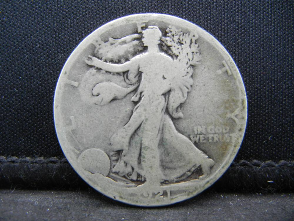 1921-S Walking Liberty Half Dollar.