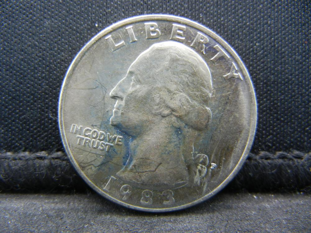1983-P Uncirculated Washington Quarter, Key Date.
