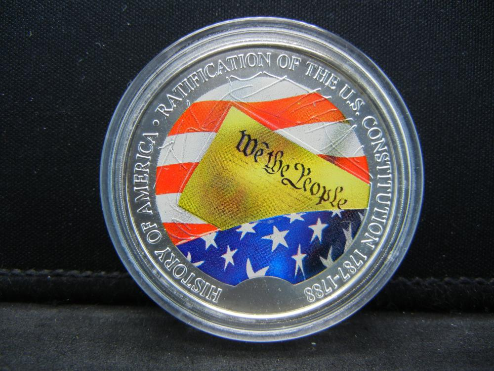 Medal Commemorating Constitution of the United States, History of America Series Issued by American Mint With COA.