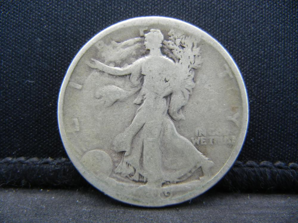 1919 Walking Liberty Half Dollar, Semi-Key Date.