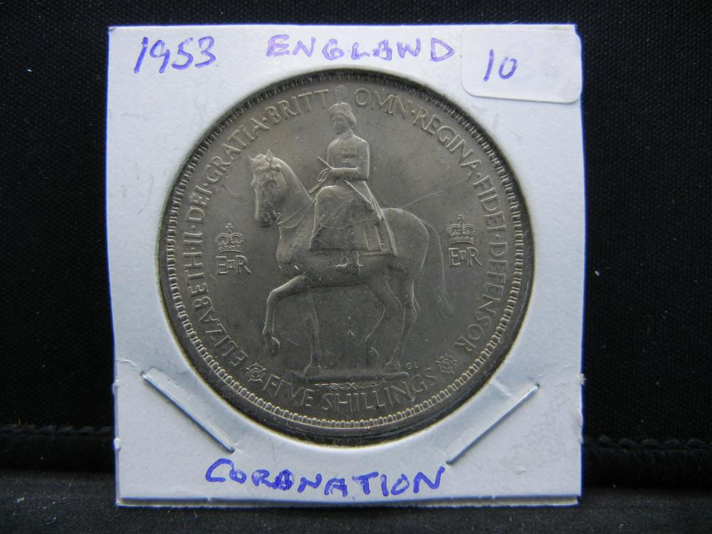 1953 Great Britain Coronation Crown.   BU.
