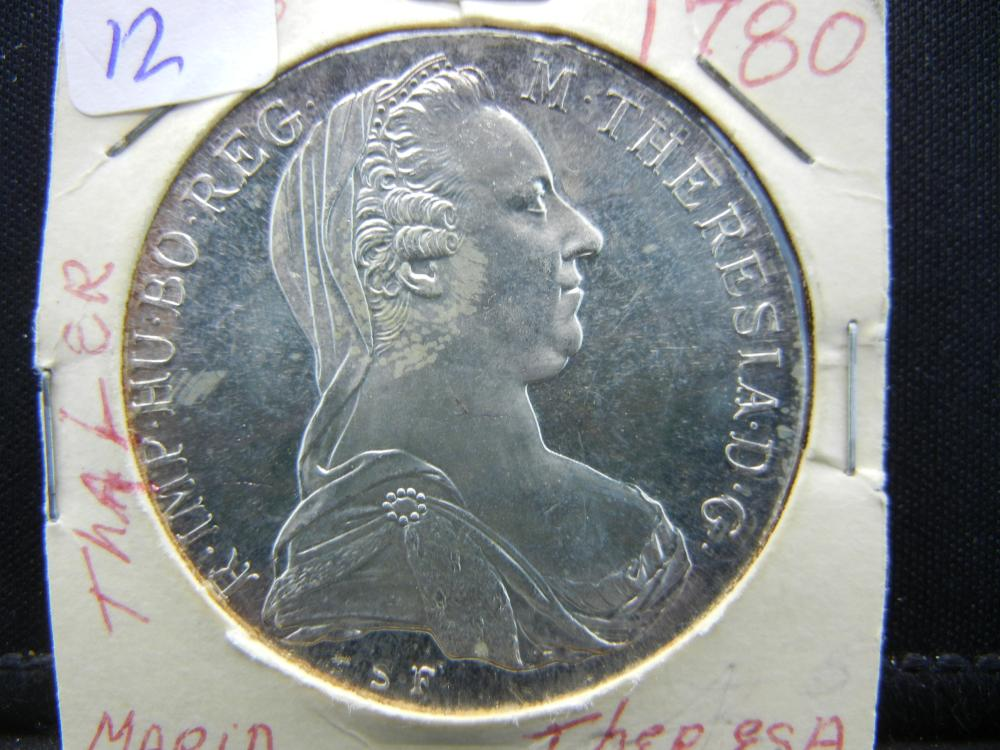 1780 Maria Theresa Silver Thaler.   Probable Restrike.   Beautiful GEM.
