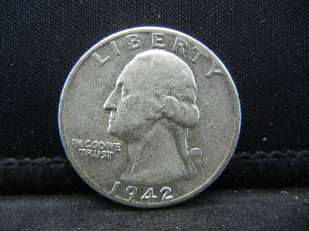 1942 Washington Quarter, Nice AU.