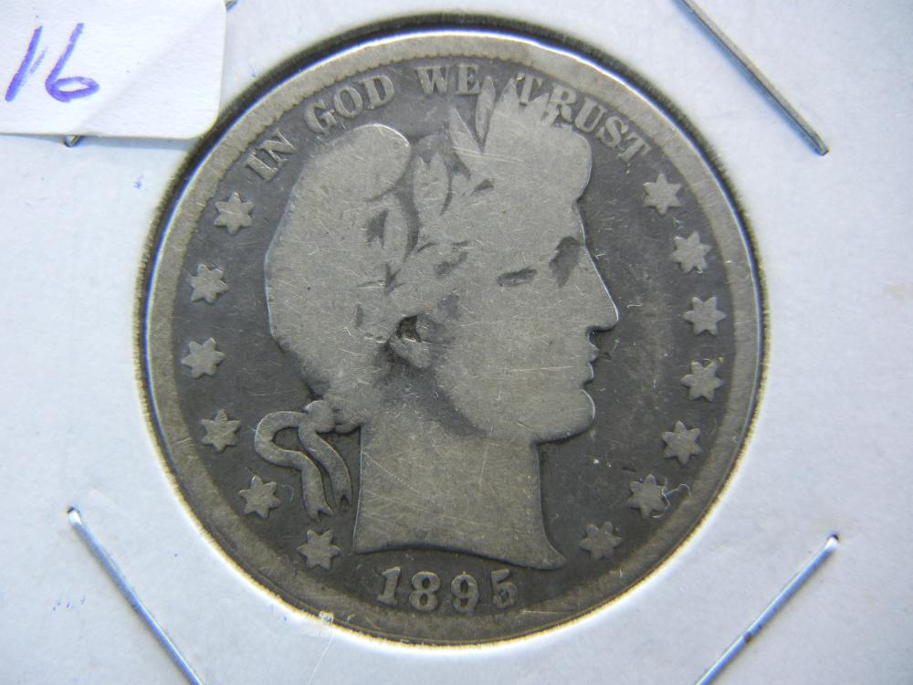 1895-O Barber Half.  One of the better dates in the 90s.  Good.